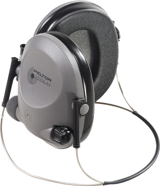 3M Peltor 97043 Tactical 6S Behind the Head Electronic 19 dB Black|Gray