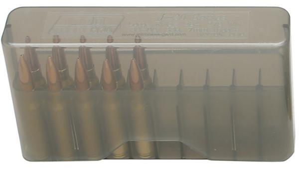 MTM J20XS41 J-20 Slip-Top Ammo Box 20rd Rifle 2.35 OAL Sm Poly Clear Smoke in.