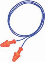 Howard Leight R01520 Multiple Use Smart Fit Earplugs 25 dB Blue Cord|Orange Plugs