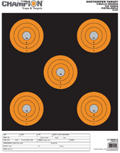 Champion Targets Shotkeep TGT-ORG 5-BULL LG