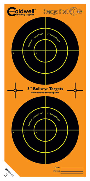 Caldwell 391984 Orange Peel Targets 3  Bullseye 15 Pack in.
