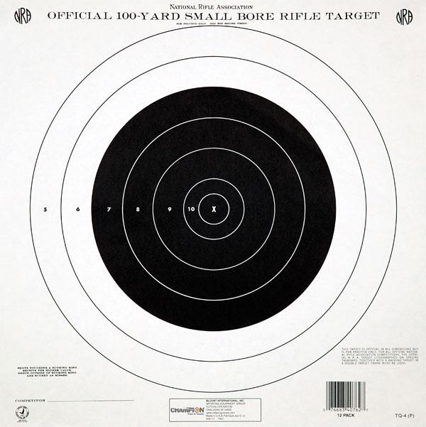 Champion Targets NRA GTQ4 100YD S|B T|Q 12pk