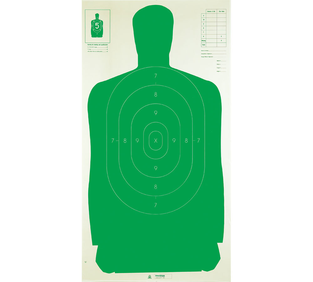 Champion Targets Silhouette Tgt 24X45 Grn (100 Pk)