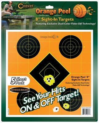 Caldwell 522-357 Orange Peel Targets Sight-In 8 5 Pack in.