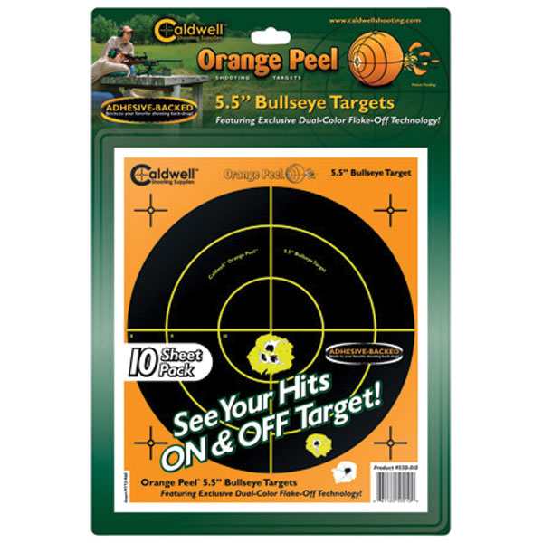 Caldwell 550-010 Orange Peel Targets Bullseye 5.5 10 Pack in.