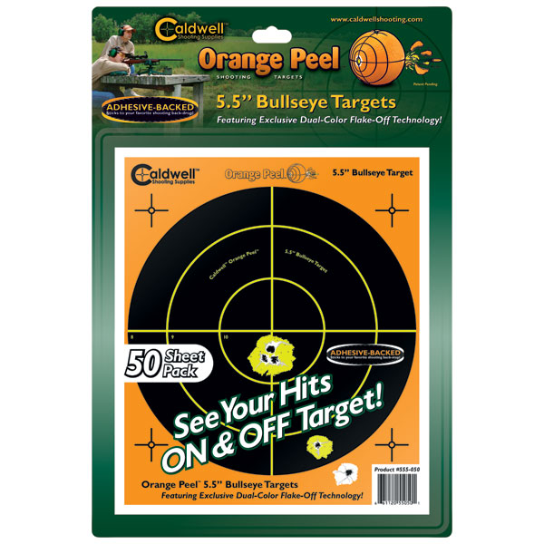 Caldwell 555-050 Orange Peel Targets Bullseye 5.5 50 Pack in.
