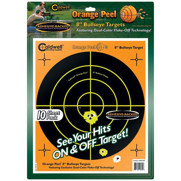 Caldwell 810-894 Orange Peel Targets Bullseye 8 10 Pack in.