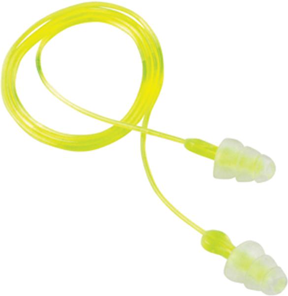3M Peltor 97317 Sport Tri-Flange Reusable Earplugs Earplugs 26 dB Yellow