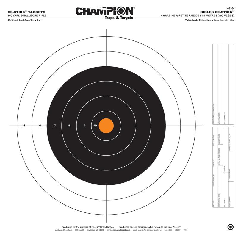 Champion Targets RE-STICK 100YD SMBR Rifle