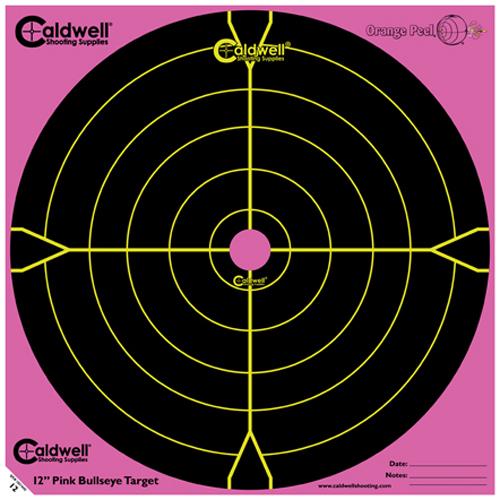 Caldwell 317-536 Orange Peel Targets Bullseye 12 Pink|Black 5 Pack in.