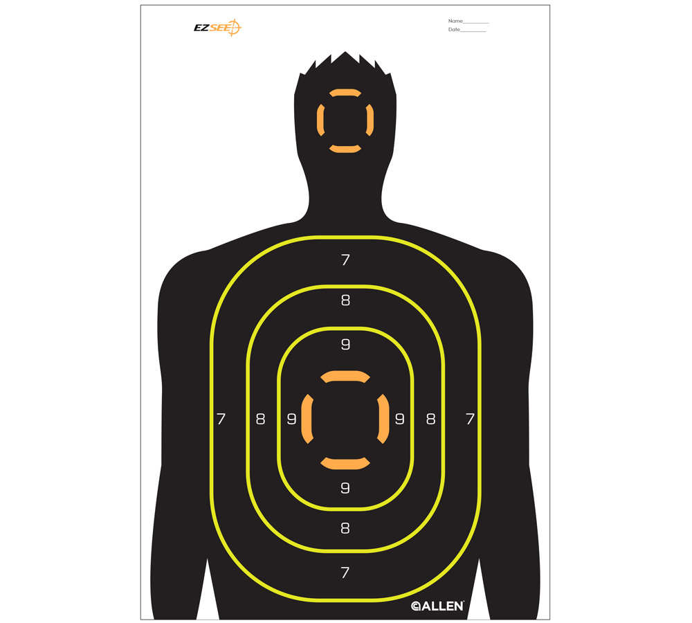 Allen 15229 EZ See Silhouette Target