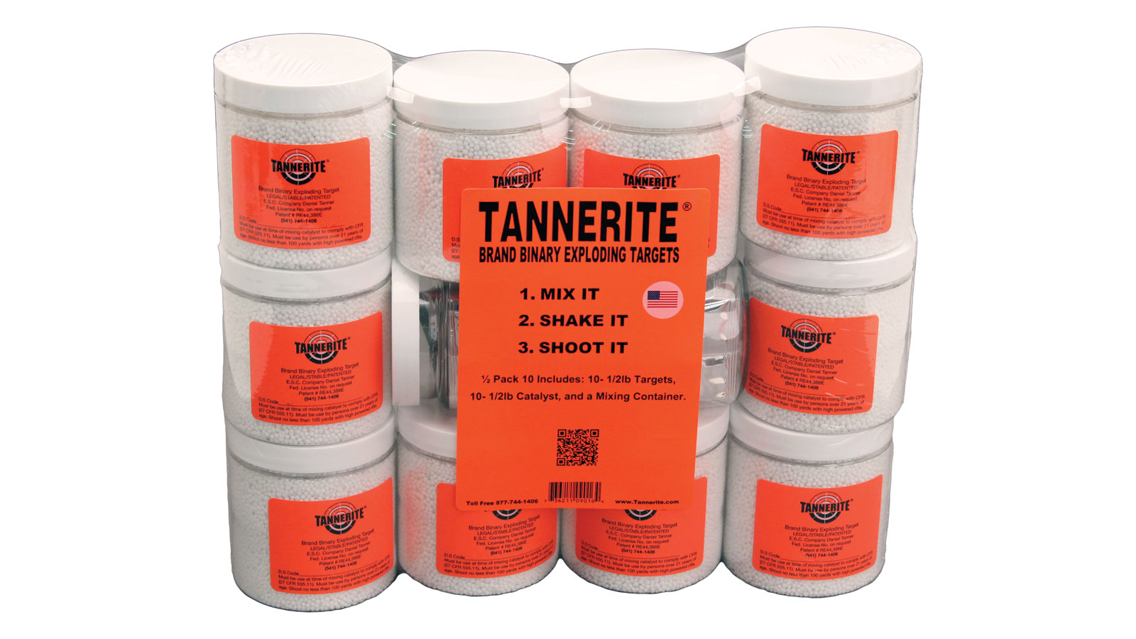 Tannerite 12PK10 Exploding Target 1 2 lbs 50 Pack