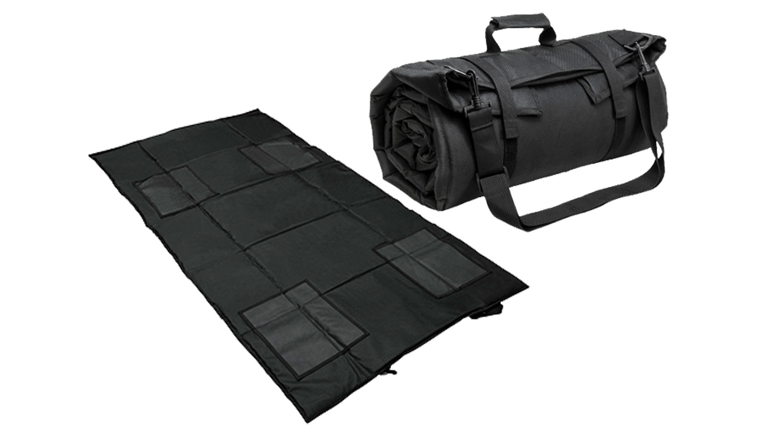 NCStar CVSHMR2957B Roll Up Shooting Mat Black