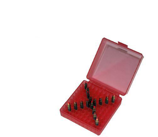 MTM P10022M29 Rifle Ammo Rimfire Ammo Box 22 Mag|17 HMR 100 rd  Red