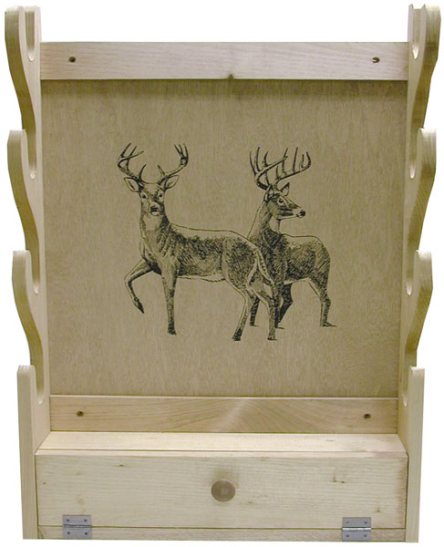 Evans Sports 4-Gun Gun Rack w|Storage