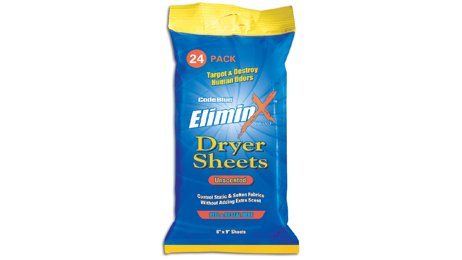 Code Blue Scents DRYER SHEETS - UNSCENTED 24