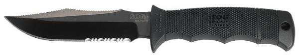 SOG Specialty Knives Pup Elite-NylSth-Blk TiNi ParSerr-CP