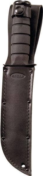 Ka-Bar 1211 Fighting|Utility 7 Clip Point Plain Kraton G Hndl Blk in.