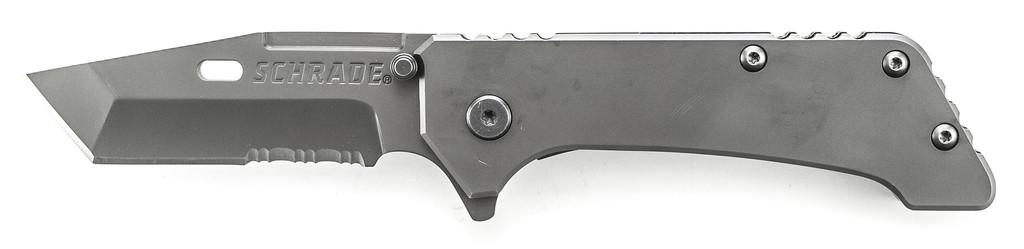Schrade Frame Lock Ttita.Ctd 40% Serr Tanto Blade