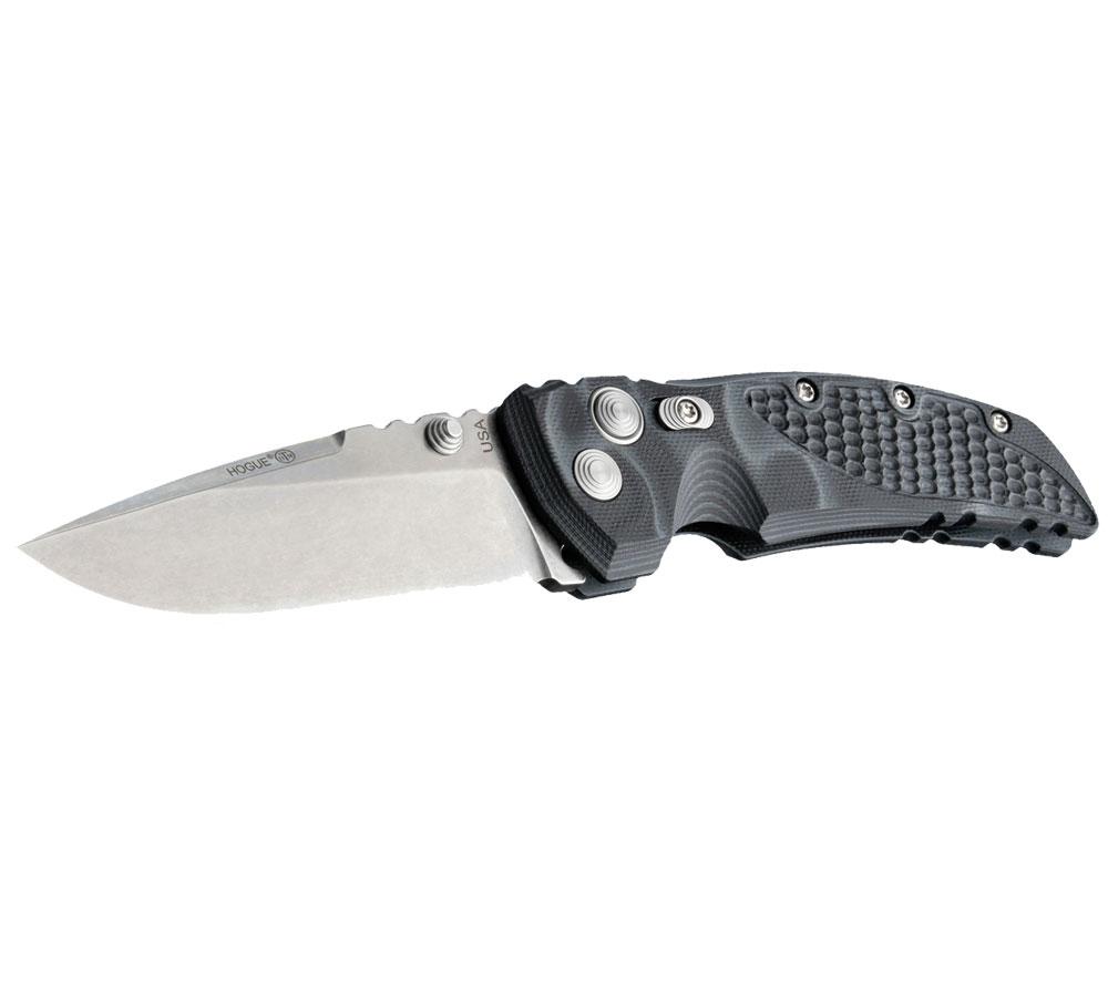 Hogue EX-01 3.5-inch Folder Drop Point Blade Tumble Finish G-10 Frame - G-Mascus Black