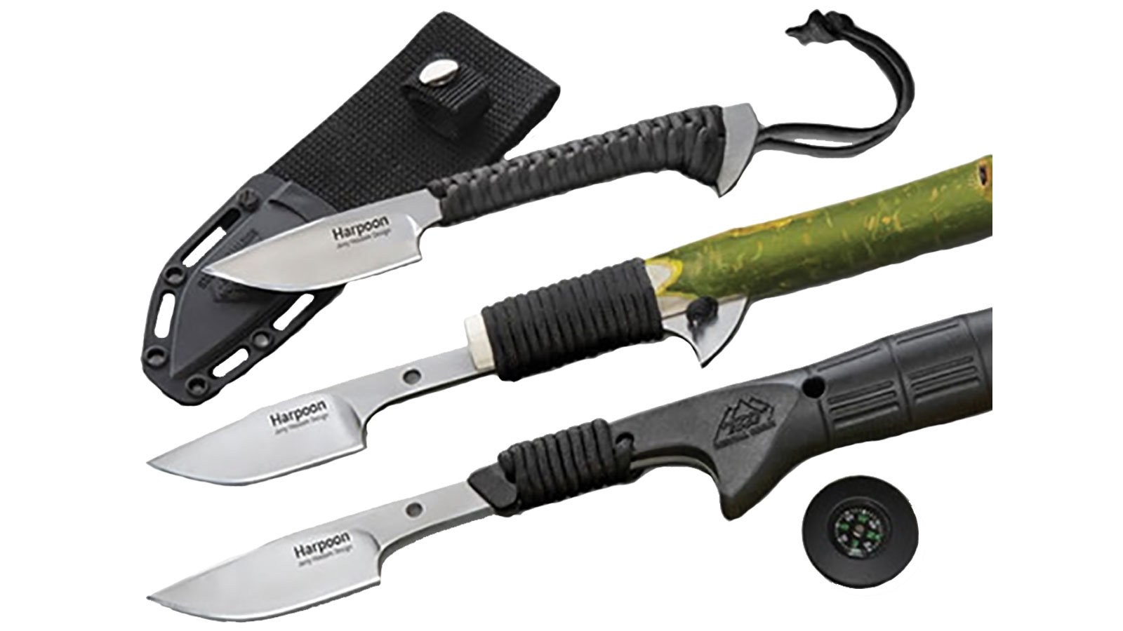 Outdoor Edge Harpoon Fixed-Blade Knife, 2.9 quot Blade