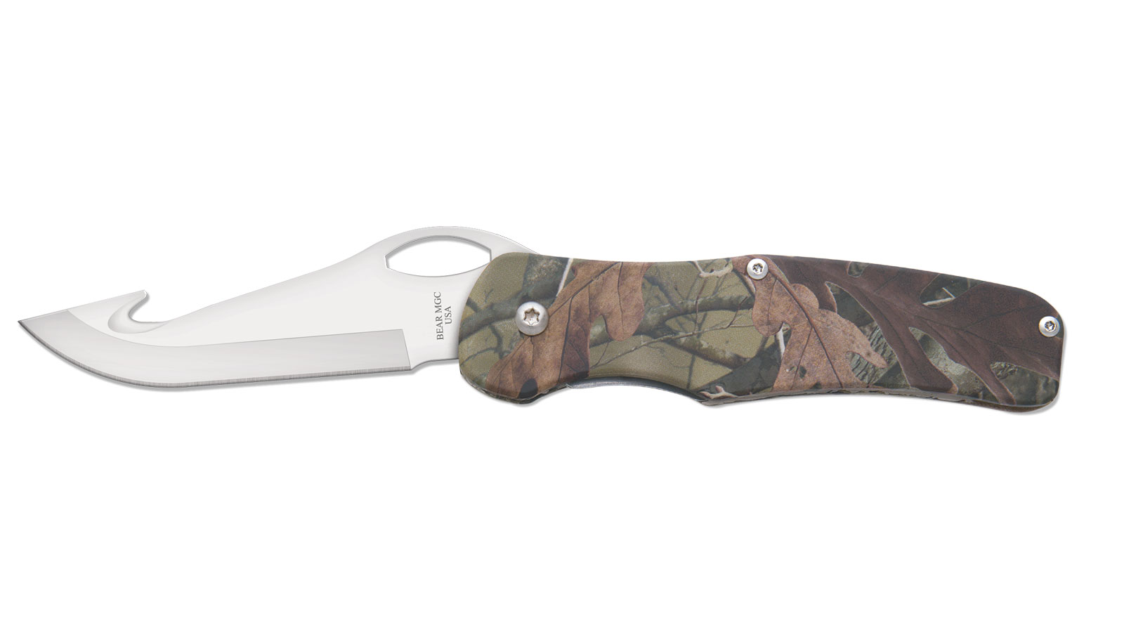 Bear and Sons Cutlery CAMO ALM. SIDELINER G