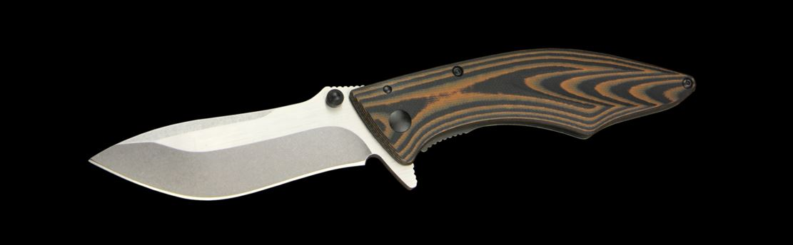 Outdoor Edge Jerry Hossom 3.0 Conquer Folders with Two-Color G10 Titanium Coated 420 J2 Stainless Steel Handle and 8Cr13MoV Stainless Steel 3 in.  Clip Point Plain Edge Blade Model CQ-30