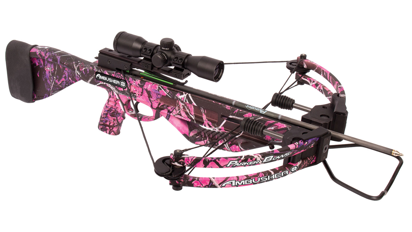 Parker Bows Ambusher Pink Crossbow Outfitter Package 3X Illuminated Multi-Reticle Scope