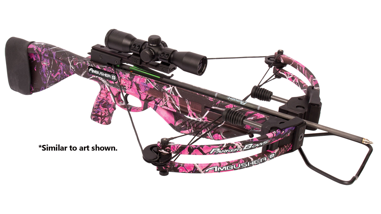 Parker Bows Ambusher Pink Camo 3X Illum MR Scope