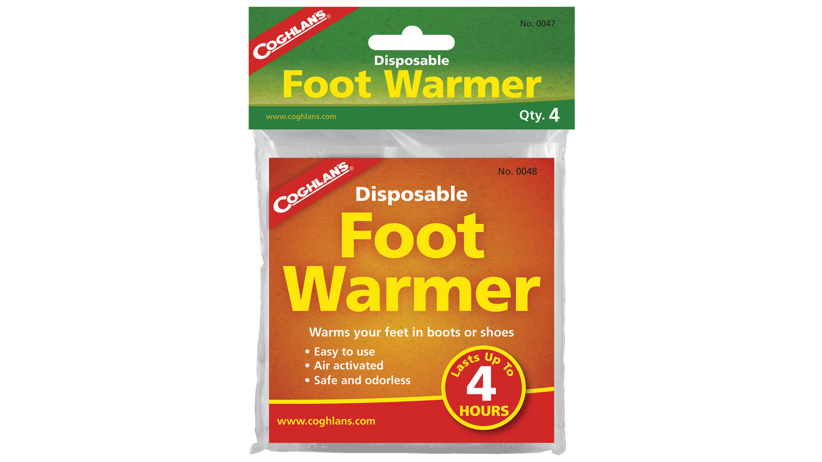 Coghlans Disposable Foot Warmers - pkg of 4