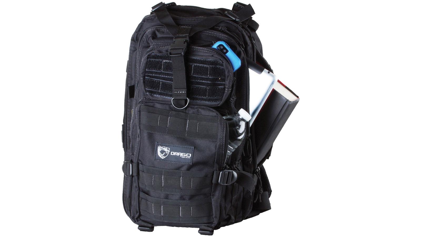Drago Gear 14301BL Tracker Backpack 600D Polyester 18 x 11 in.  x 11 in.  Black in.