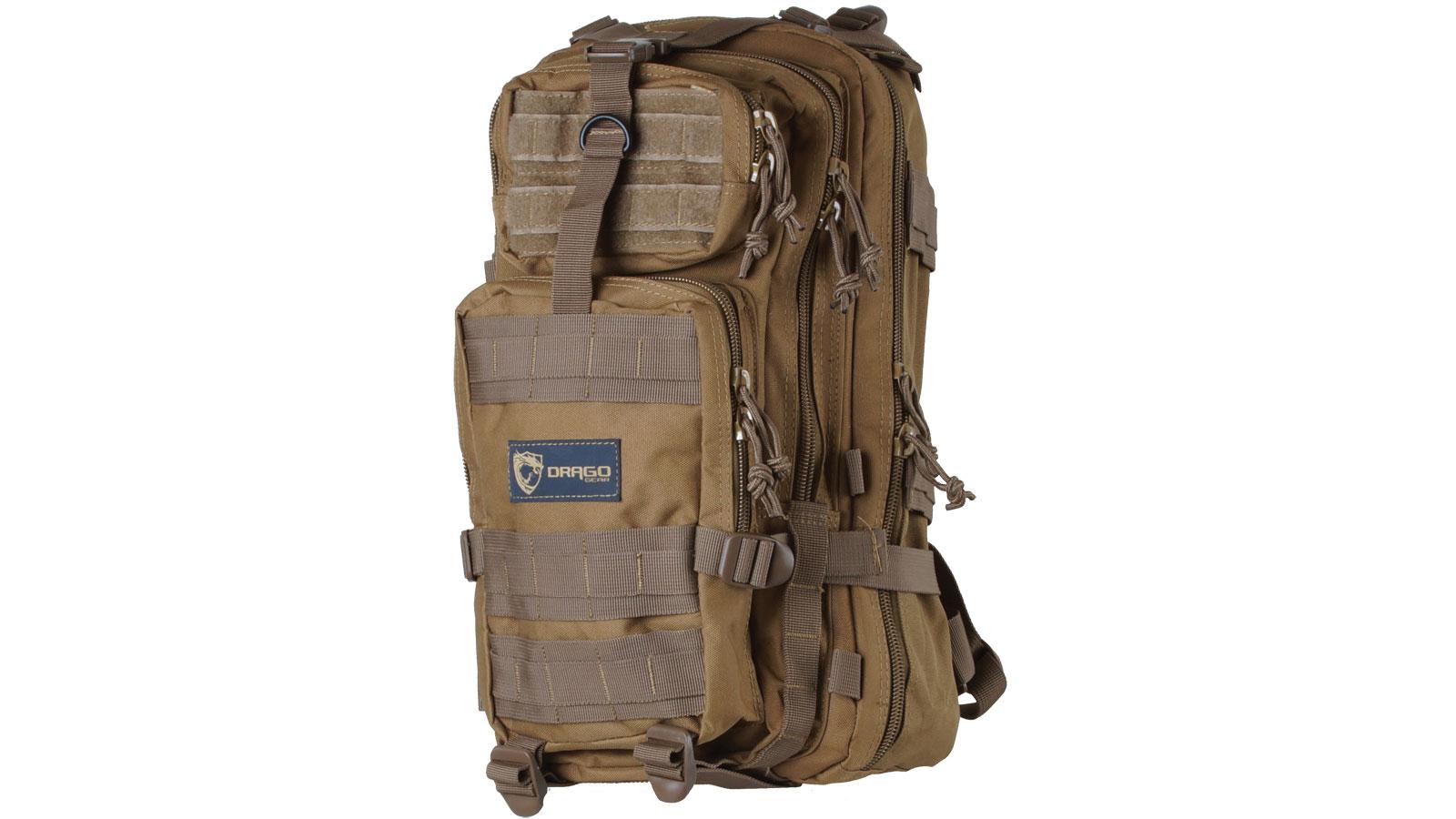 Drago Gear 14301TN Tracker Backpack 600D Polyester 18 x 11 in.  x 11 in.  Tan in.