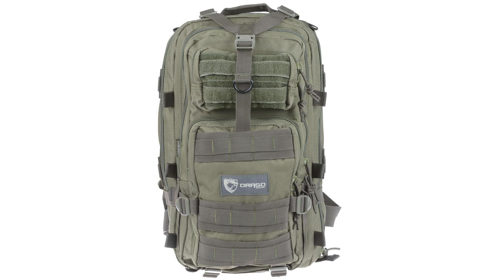 Drago Gear 14301GR Tracker Backpack 600D Polyester 18 x 11 in.  x 11 in.  Green in.
