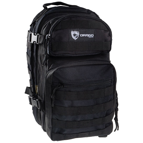 Drago Gear 14305BL Scout Backpack Tactical 600D Polyester 16x10 in. x10 in.  Black in.