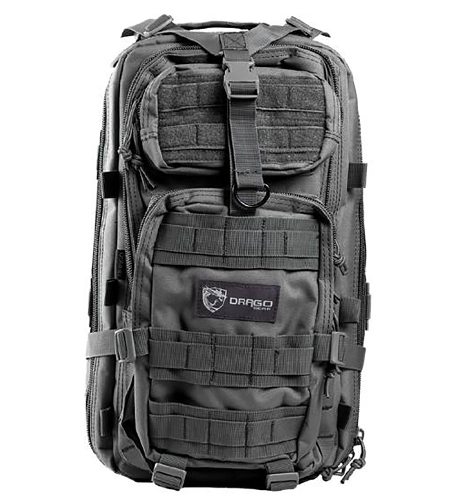 Drago Gear 14301GY Tracker Backpack 600D Polyester 18 x 11 in. x11 in.  Gray in.