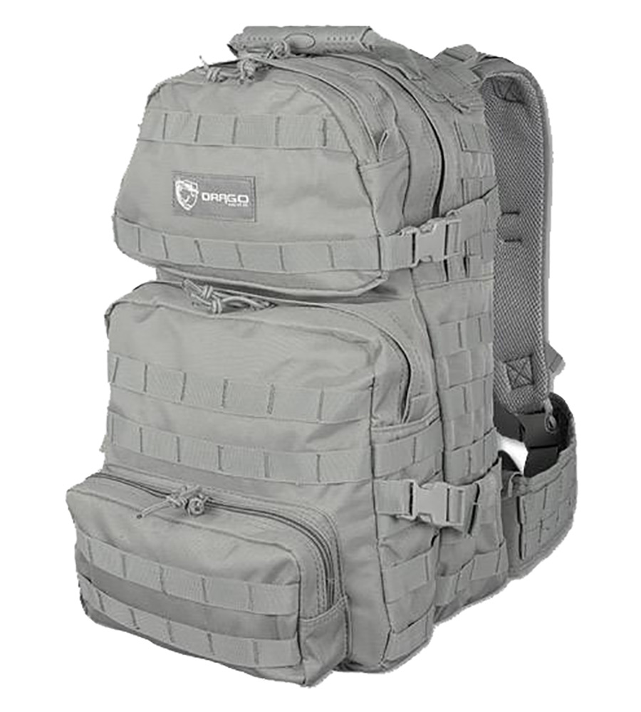 Drago Gear 14302GY Assault Backpack 600D Polyester 20 x 15 in.  x 13 in.  Gray in.