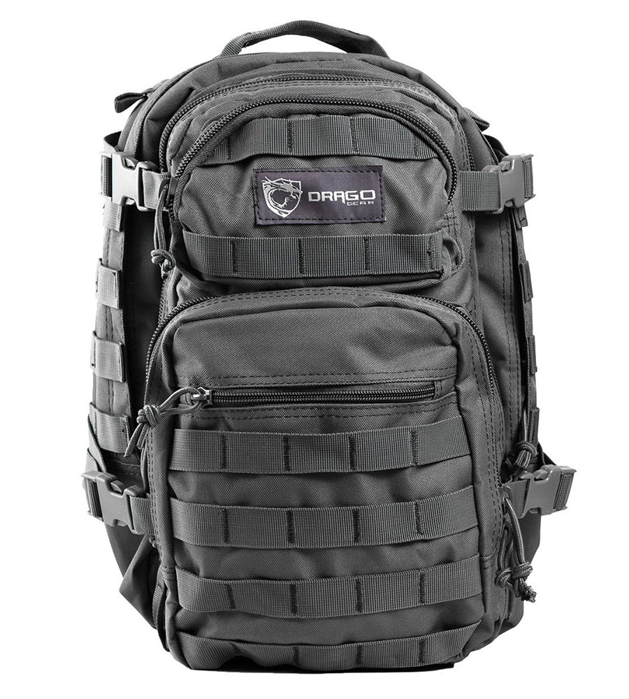 Drago Gear 14305GY Scout Backpack Tactical 600D Polyester 16x10 in. x10 in.  Gray in.