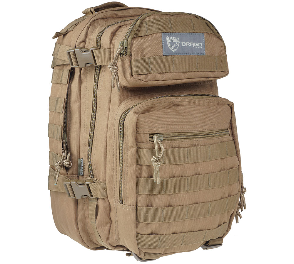 Drago Gear 14305TN Scout Backpack Tactical 600D Polyester 16x10 in. x10 in.  Tan in.