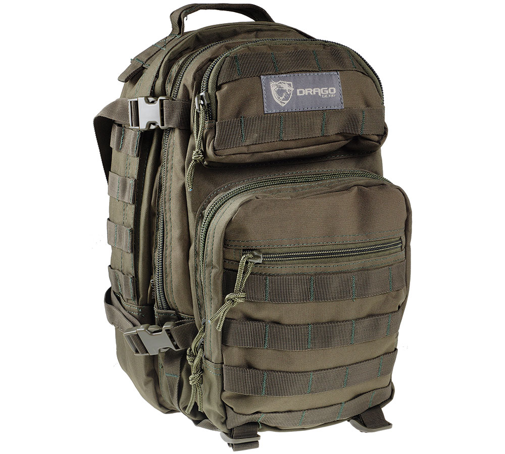 Drago Gear 14305GR Scout Backpack Tactical 600D Polyester 16x10 in. x10 Green in.