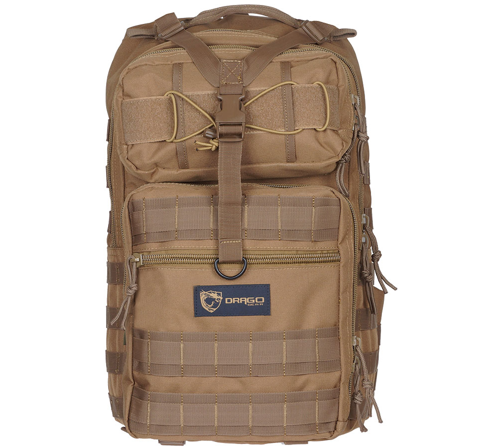 Drago Gear 14308TN Atlus Sling Backpack Tactical 600D Polyester 19 x 11 in.  x 10 in.  Tan in.