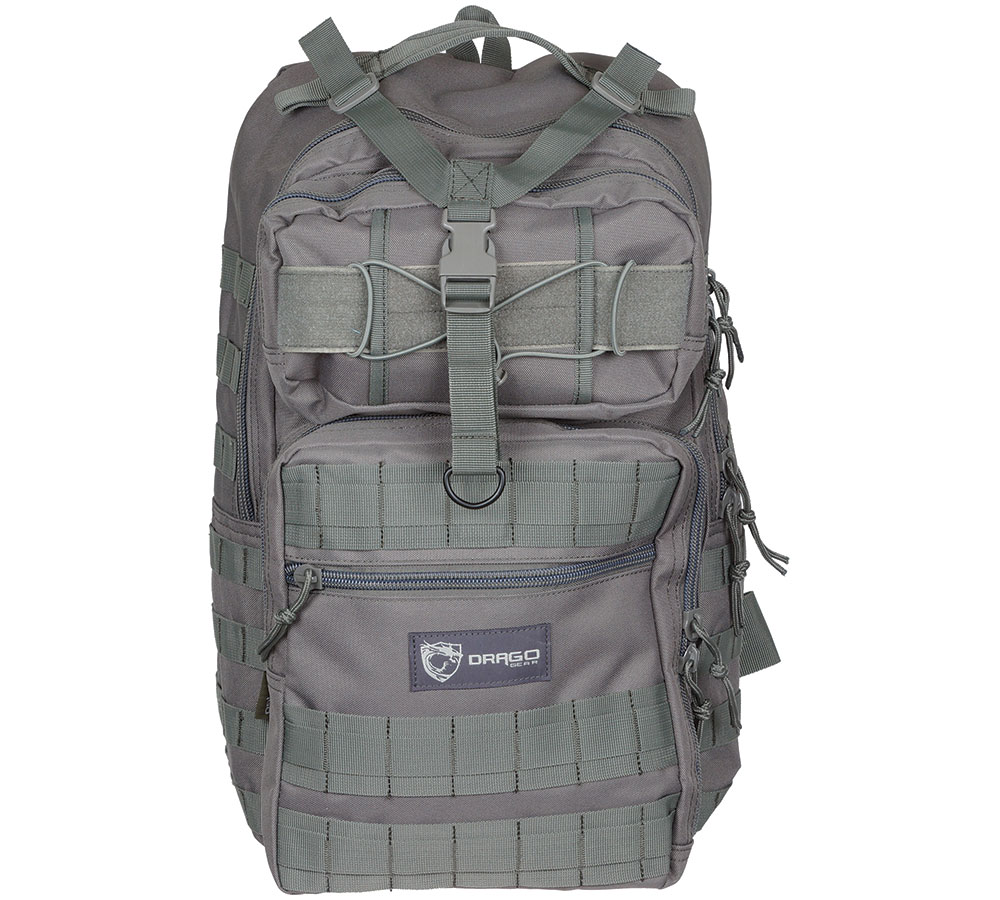 Drago Gear 14308GY Atlus Sling Backpack Tactical 600D Polyester 19 x 11 in.  x 10 in.  Gray in.
