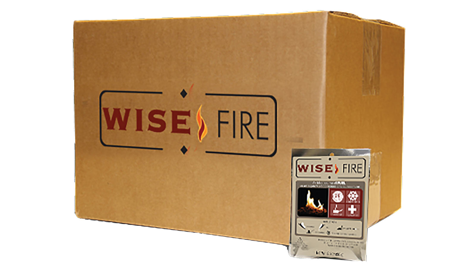 WiseFire Emergency Survival Fire Starter Pouches, 15 Pack