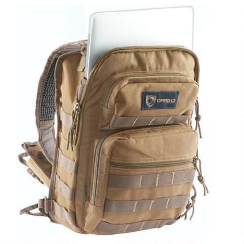 Drago Gear 14306TN Sentry Pack iPad|Tablet Tan Backpack Tan 600 Denier 13 x 10 in.  x 7 in.  Tan in.