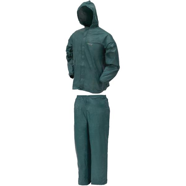 Frogg Toggs Rain Suit w Stuff Sack LG-Grn