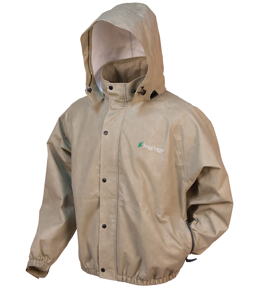 Frogg Toggs Classic Pro Action Rain Jacket for Men - Khaki - S