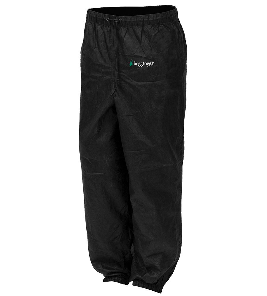 Frogg Toggs Classic Pro Action Rain Pants for Men - Black - L