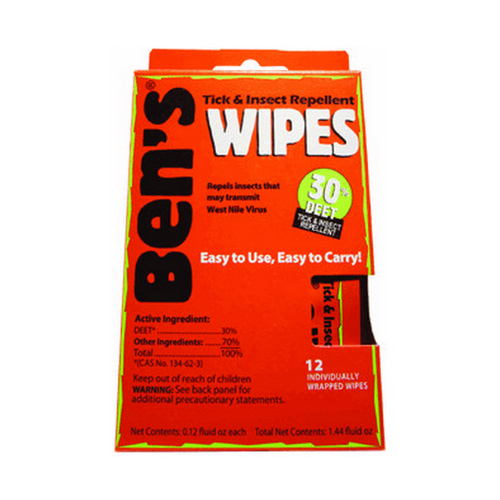 Adventure Medical Kits 0006-7085 Bens 30% Wipes (1- 12 Piece Box)
