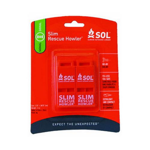 Adventure Medical Kits 0140-0010 Slim Rescue Howler Whistle (Per 2)