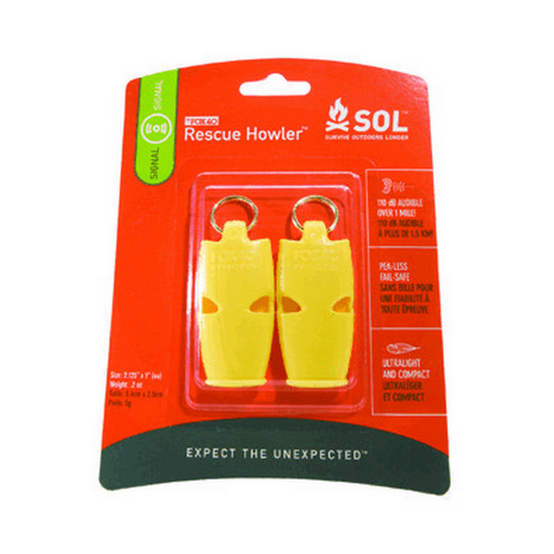 Adventure Medical Kits 0140-1002 SOL Series Rescue Howler Whistle|2