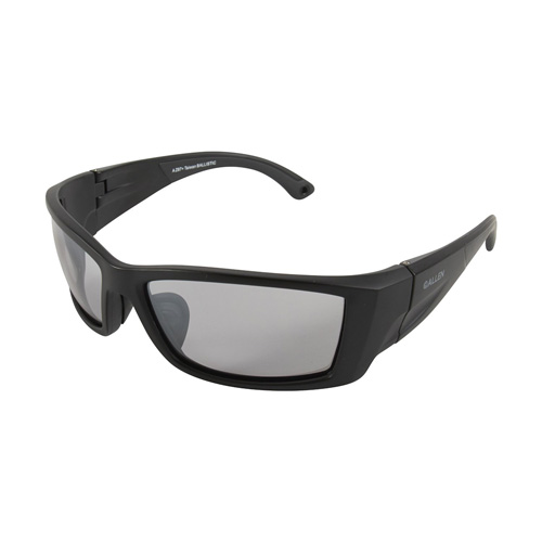 Allen Meta Ballistic Shooting Glasses Black Smoke Mirror Lens